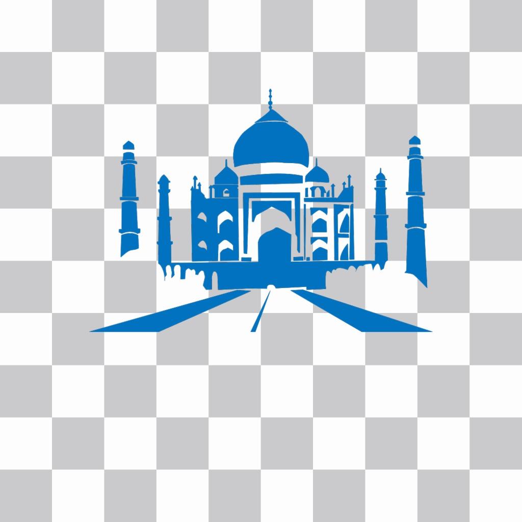 Sticker with the Taj Mahal