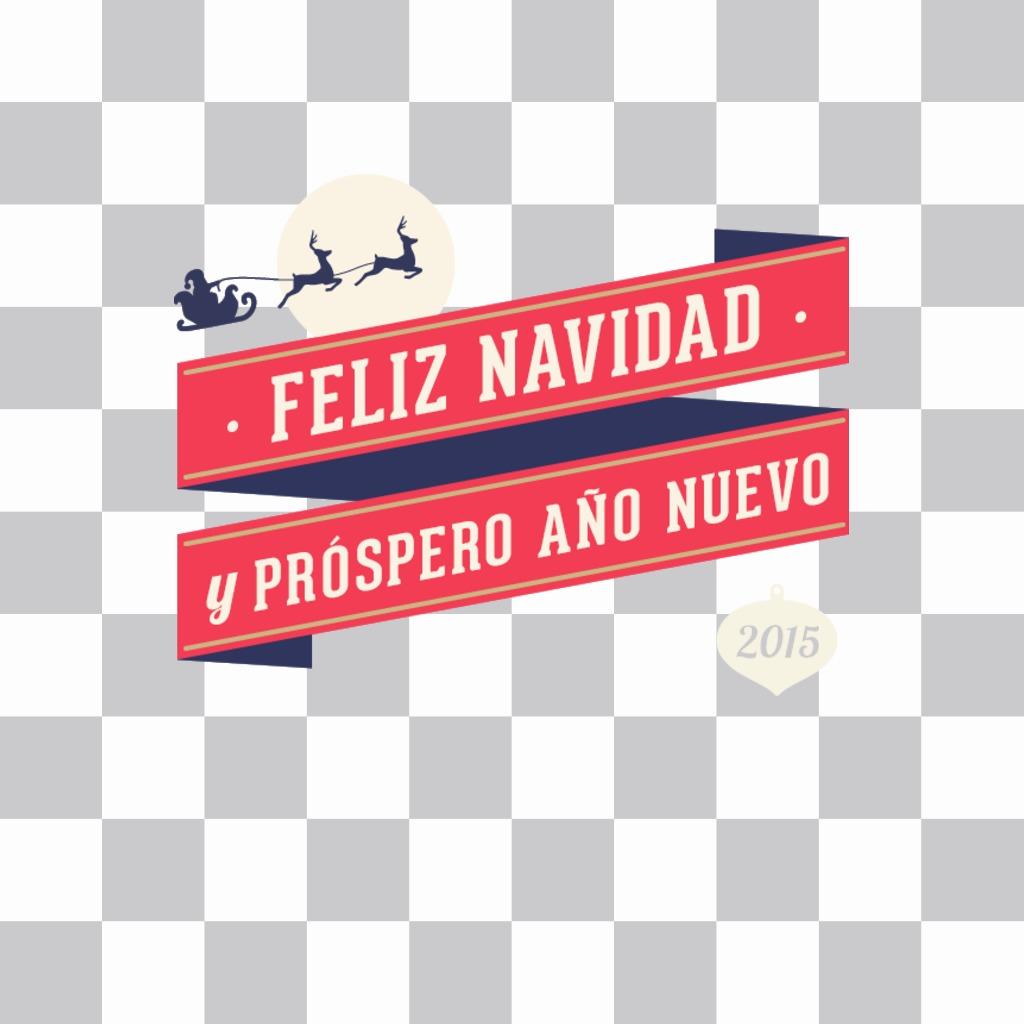 Christmas sticker for 2015