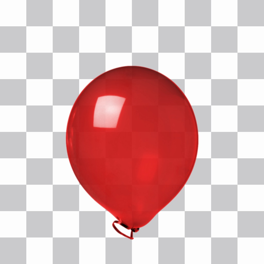 Sticker of a red shiny balloon