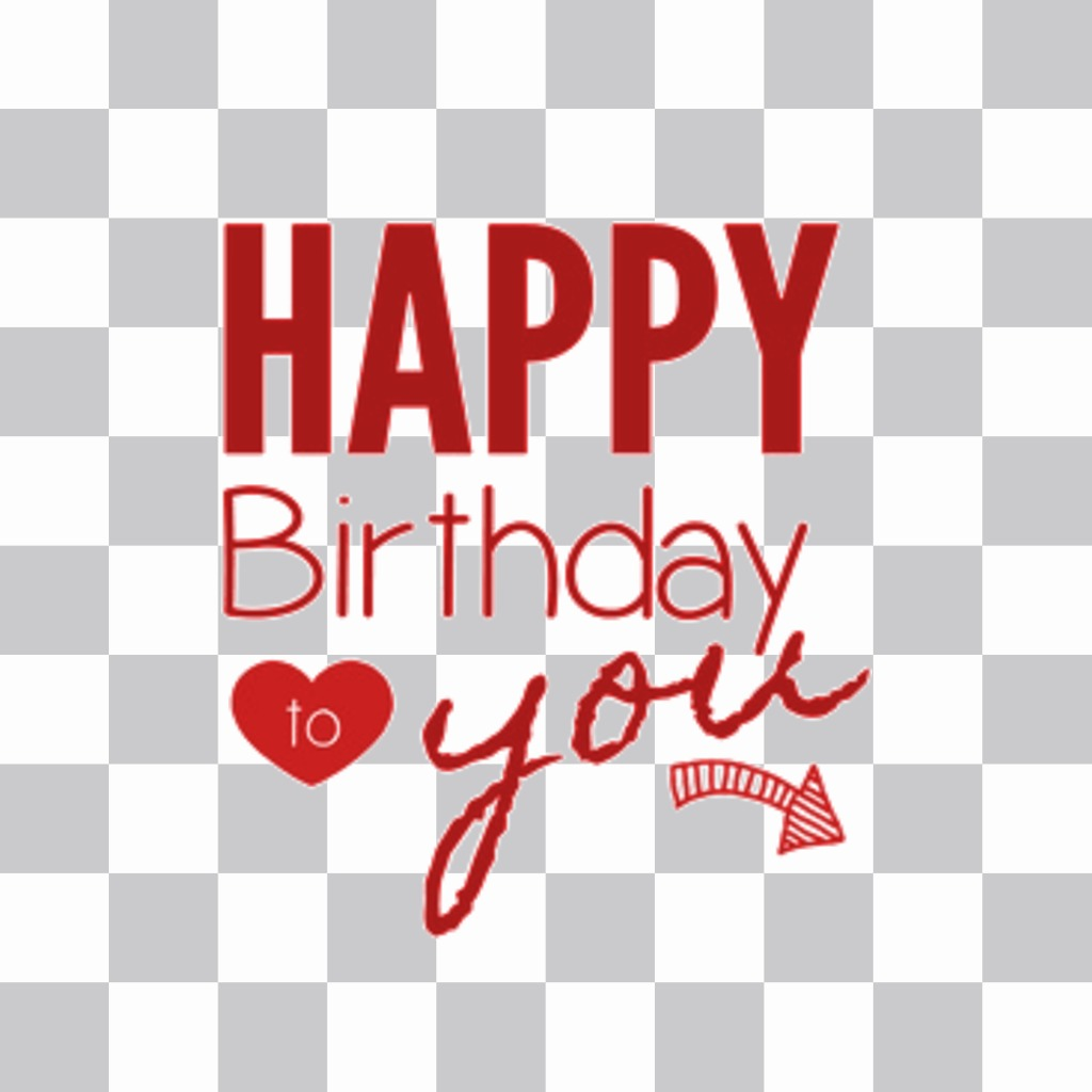 """Sticker with the message """"Happy Birthday to you"""""""