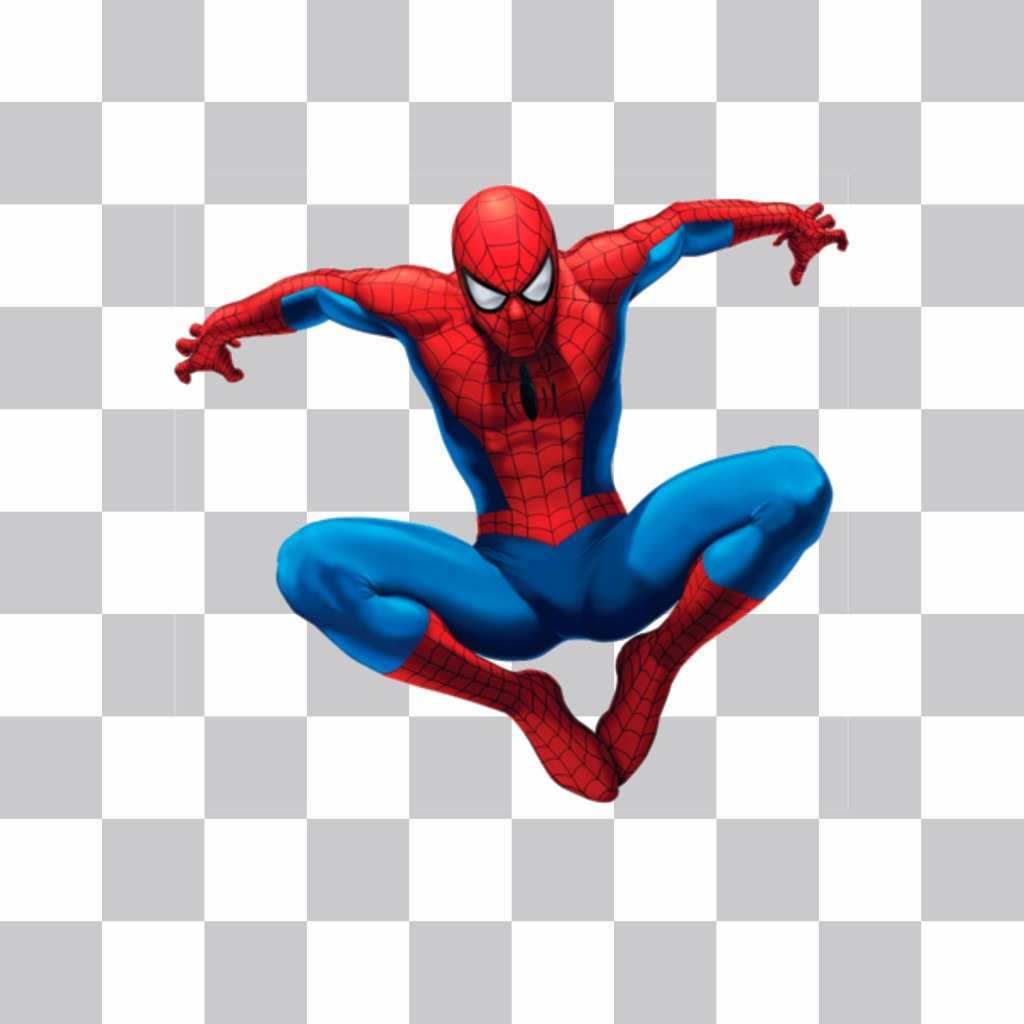 Spiderman sticker jumping to insert into your photo