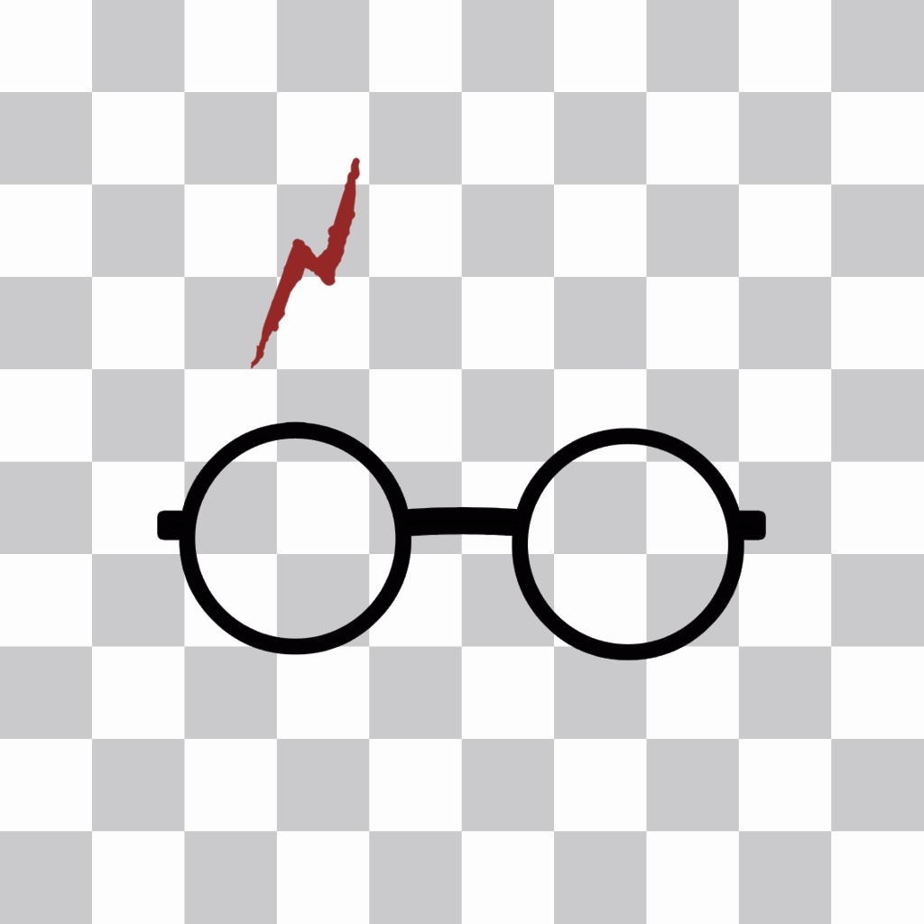 """Sticker with Harry Potter""""s glasses and scar"""