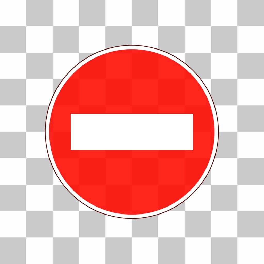 Sticker of a no entry sign