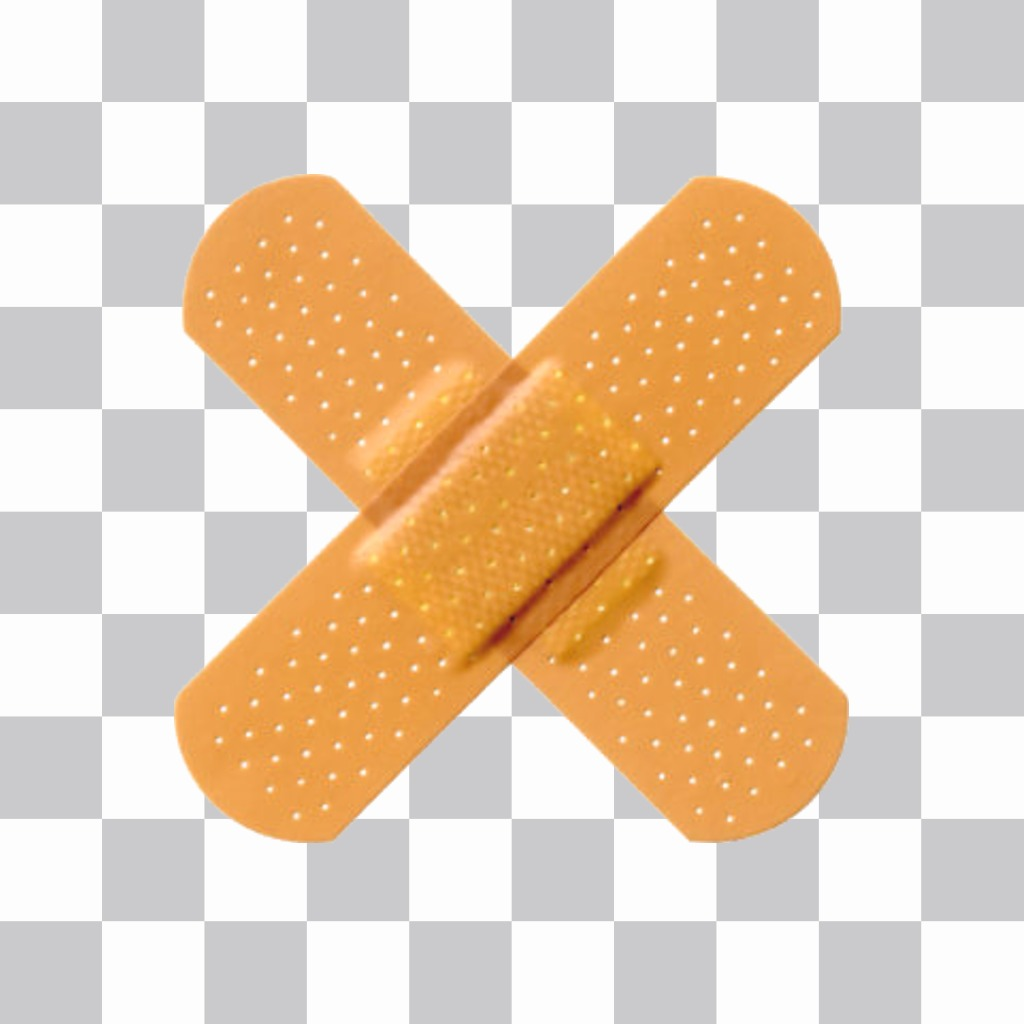 Sticker with two bandaids