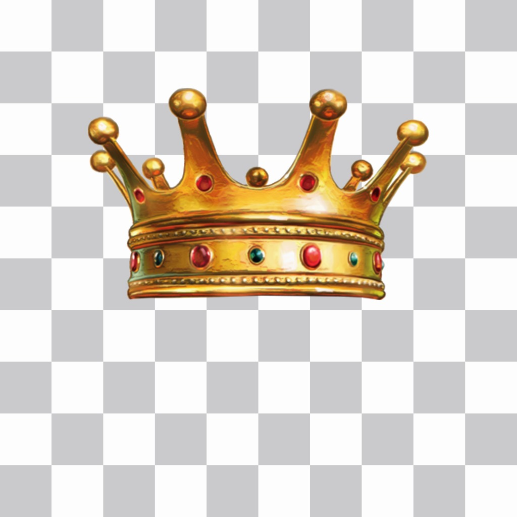 Sticker of a gold crown with diamonds