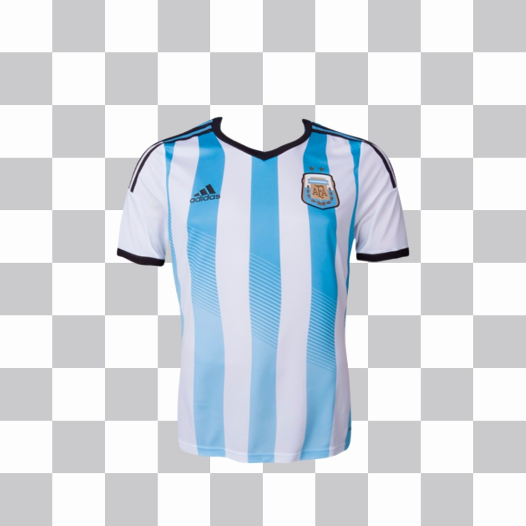 Shirt of Argentina selection for your photos