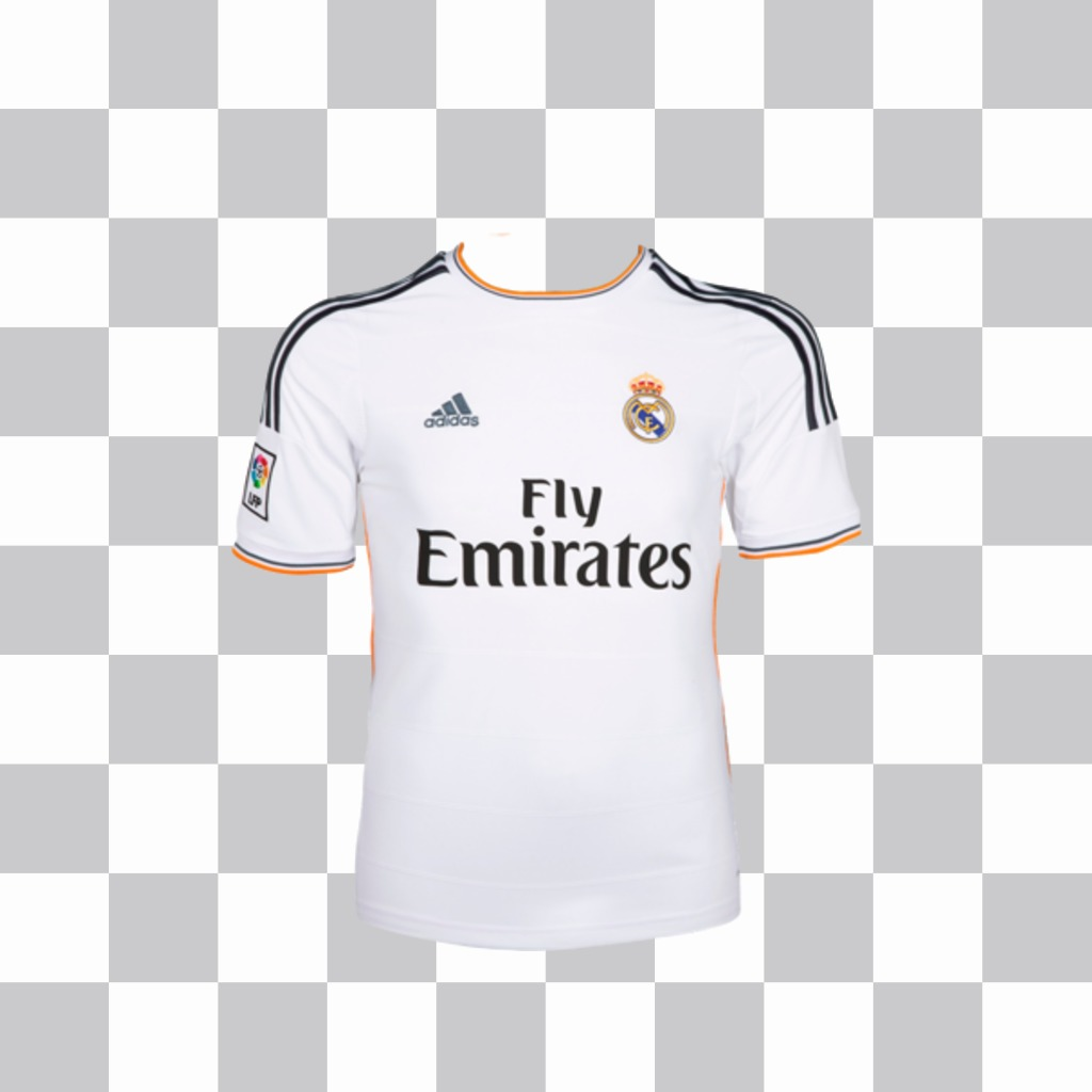 Sticker to put the shirt of Real Madrid in your photo