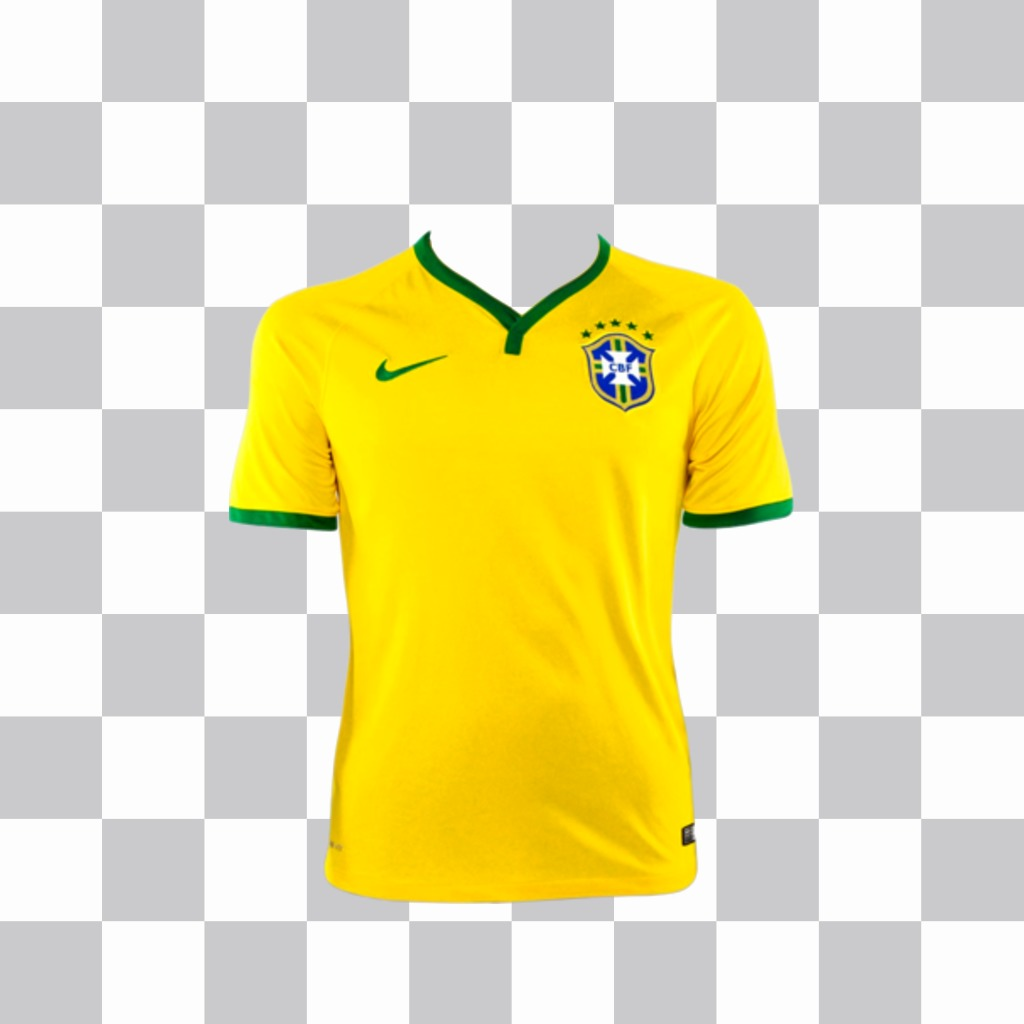 Sticker with Brazil shirt to put on your picture