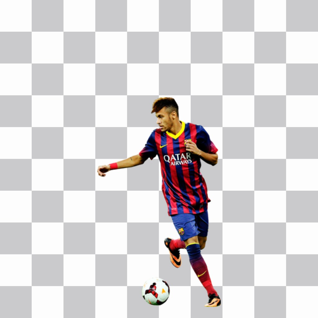 Fc Barcelona Stickers.Sticker With The Fc Barcelona Football Player Neymar For