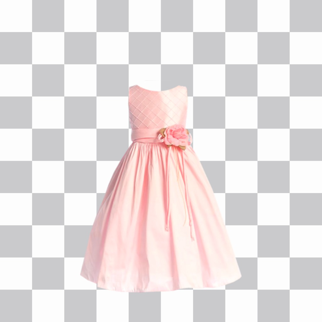 Sticker a pink dress communion to put in your photo