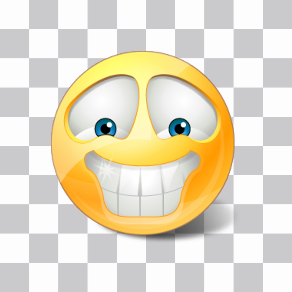 Smiley emoticon with white teeth for your photos