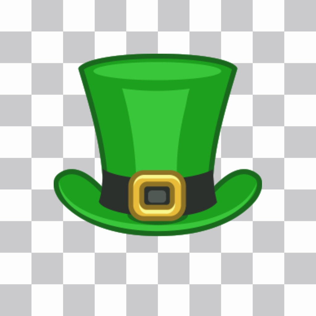 "St. Patrick""s hat to put in your online photos as a sticker on our image editor"