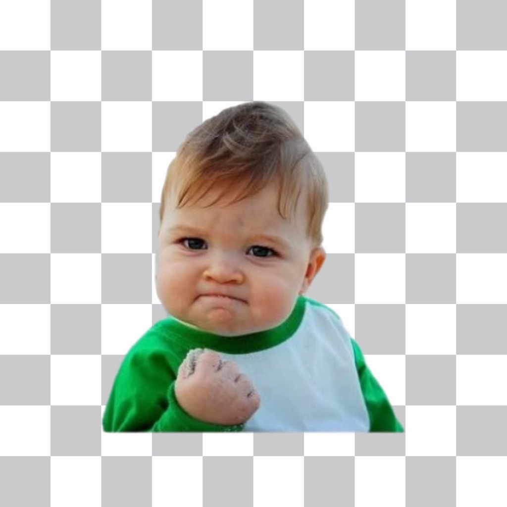 Meme success kid to put in your online photos like a sticker