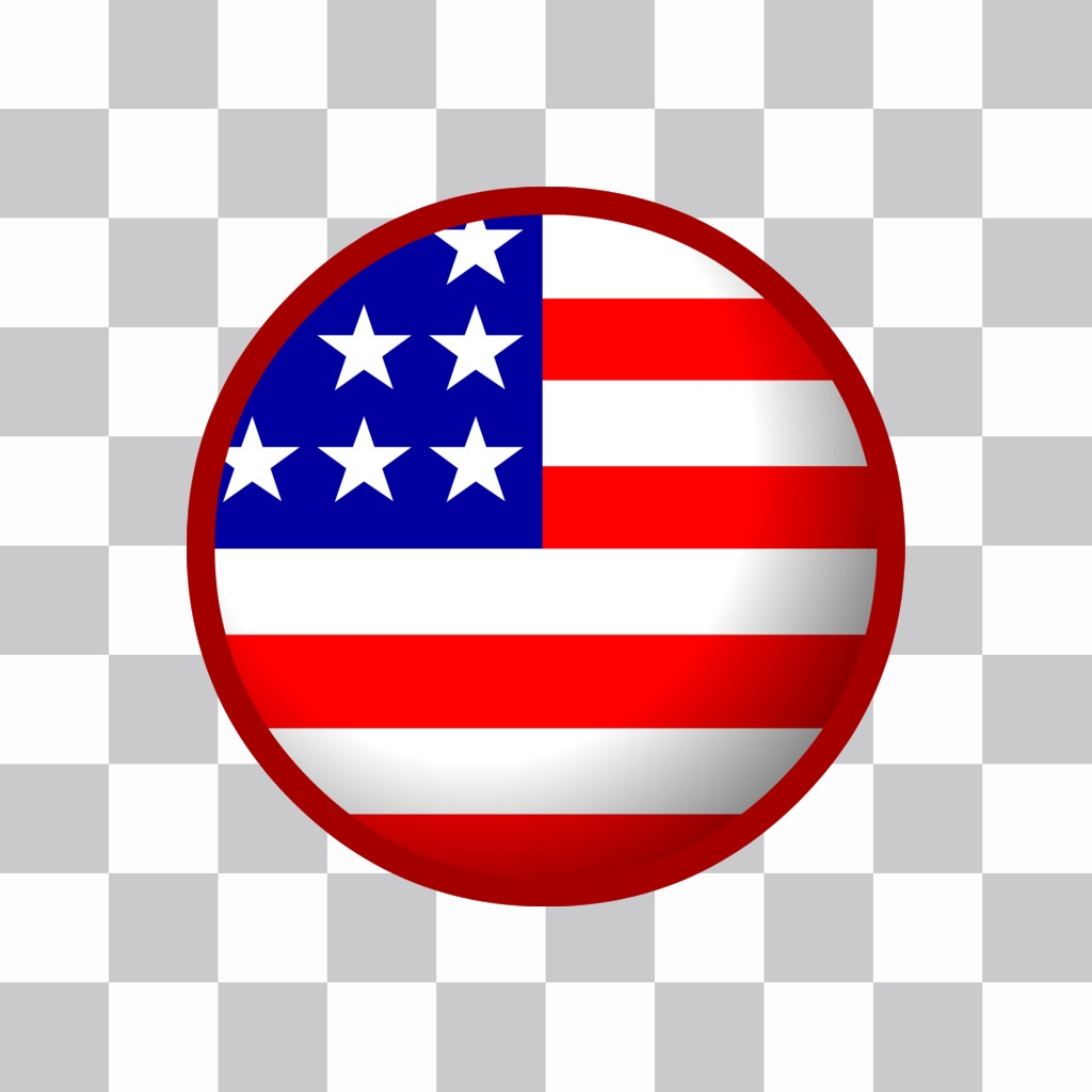 American flag badge that can put in your photo online profile