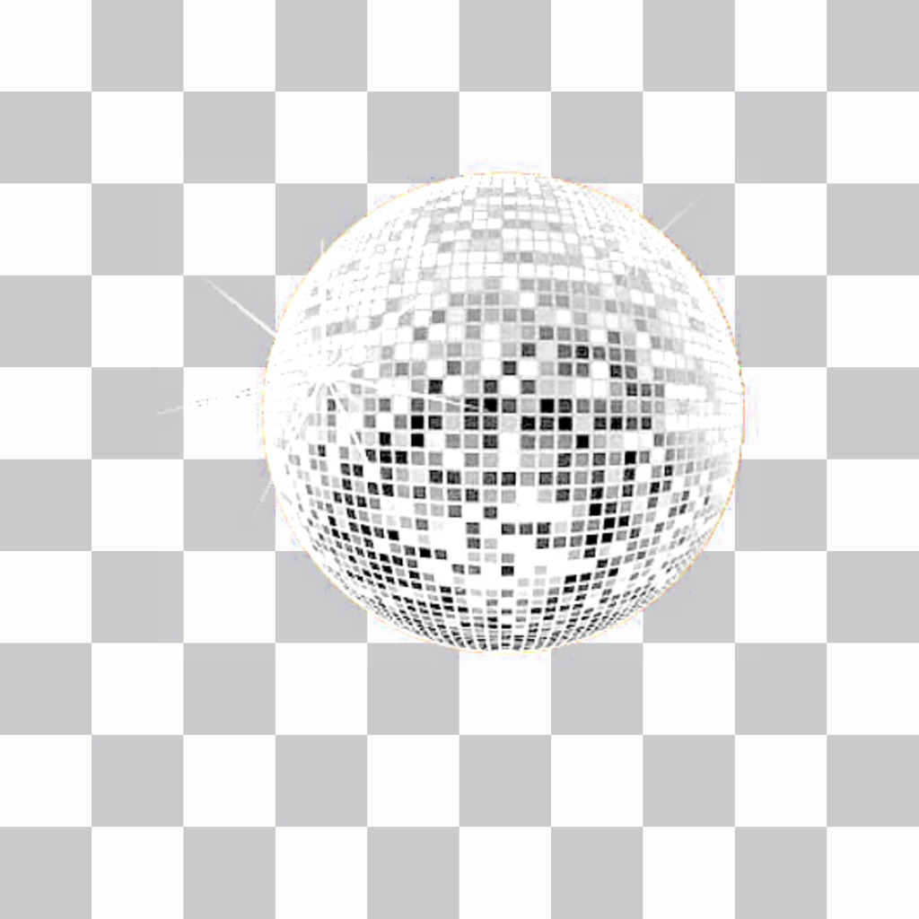 Sticker of a disco ball to decorate your photos with a very festive atmosphere