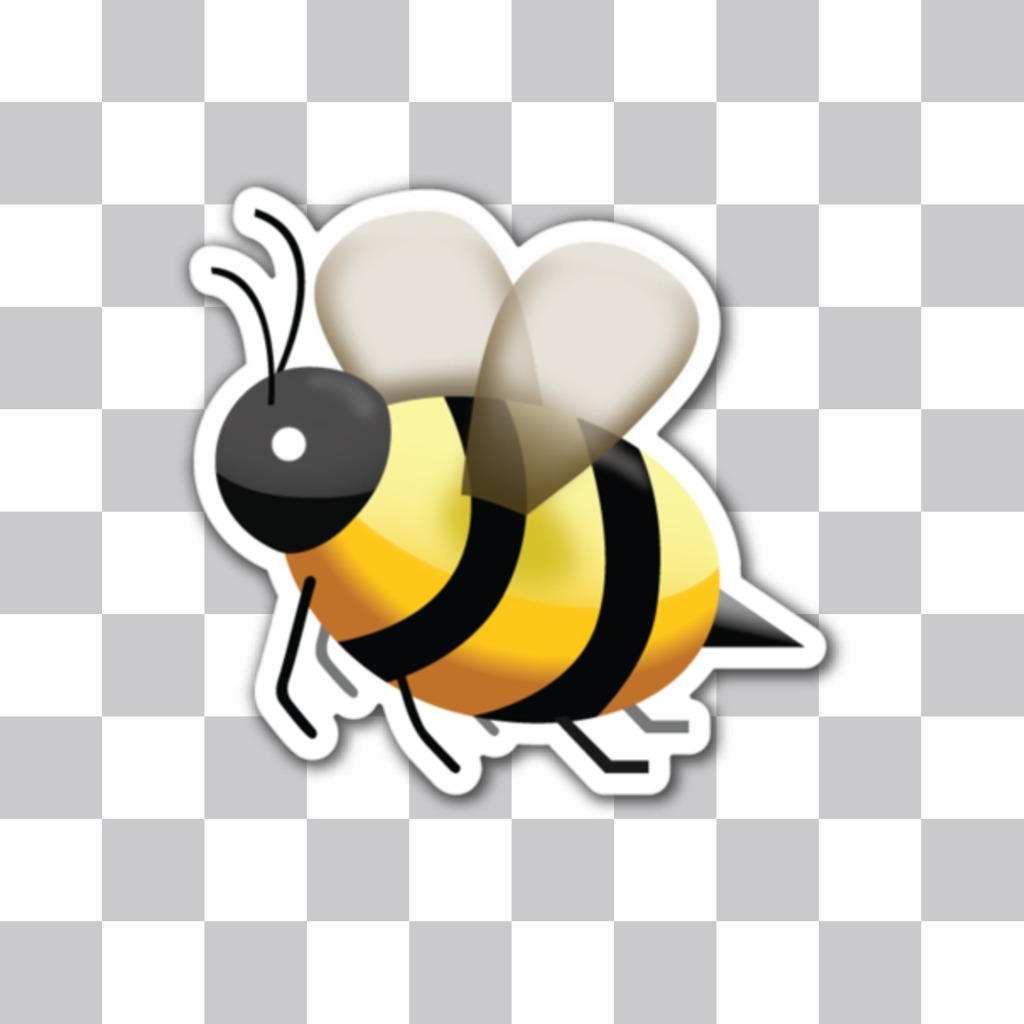 Emoji a bee sting as the online sticker that you can insert into your