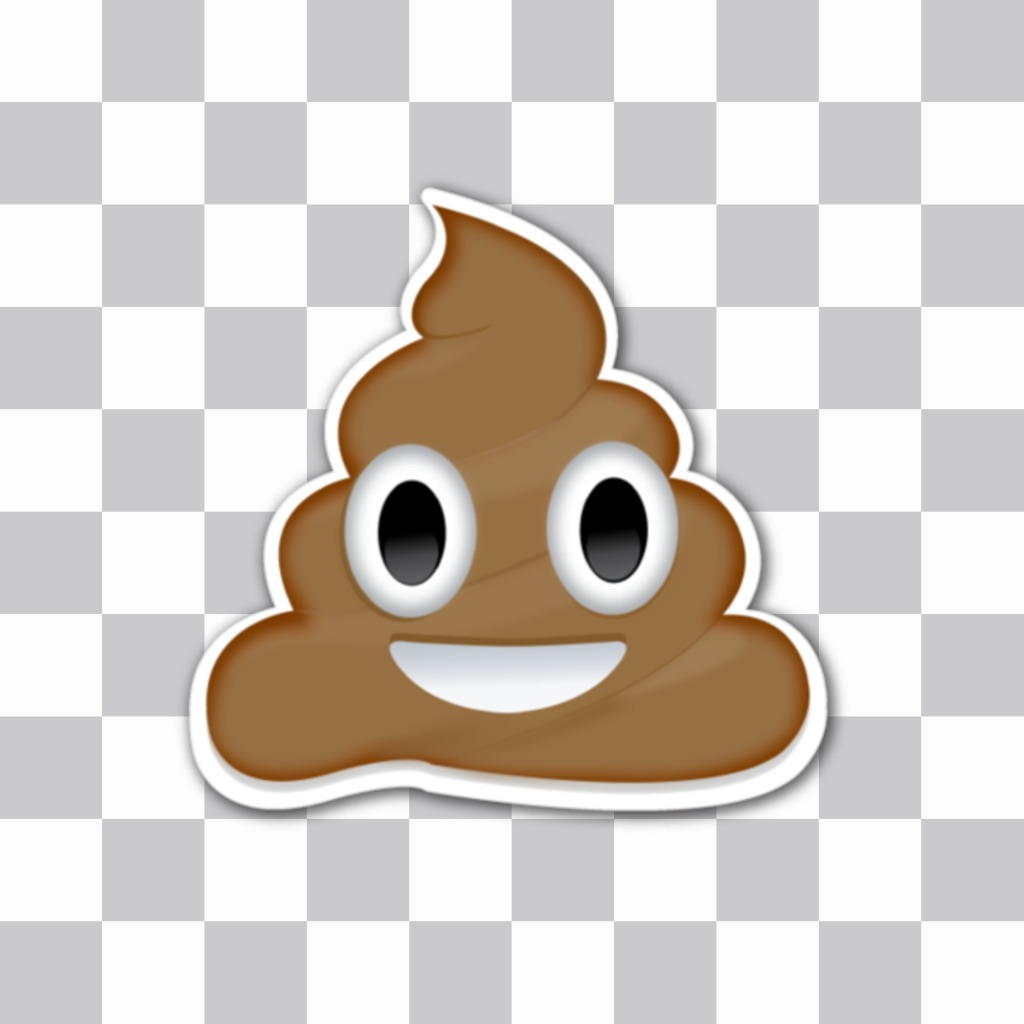 Poop WhatsApp smiley emoticon to insert into your images with the online emojis editor