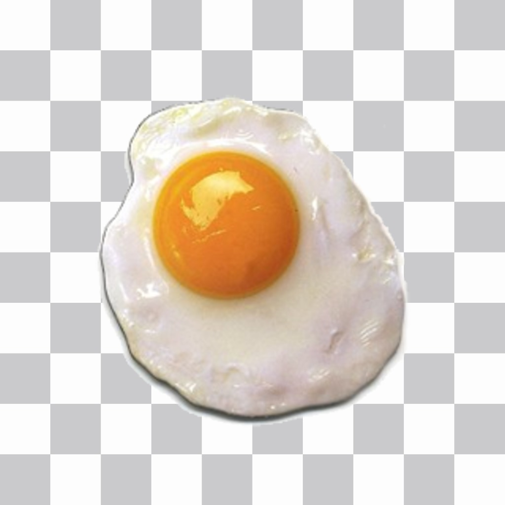 Fried sticker to put on your images without the need to download any software egg