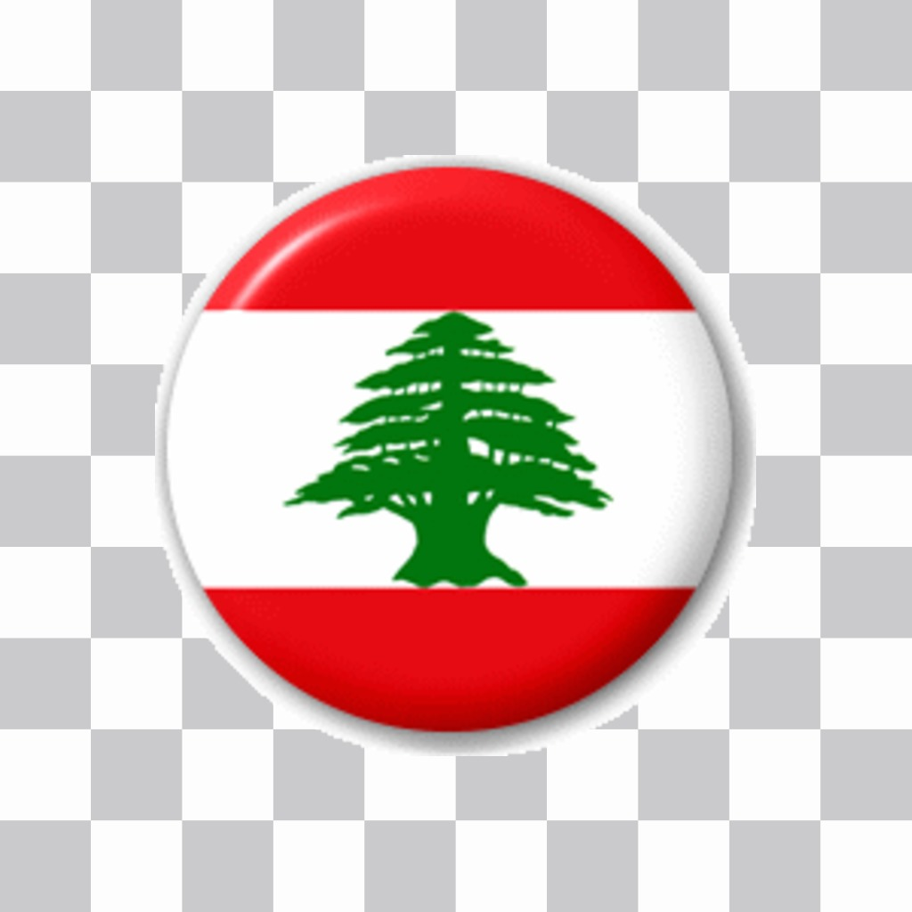 Badge with the flag of Lebanon to put on your profile picture Facebook or Twitter