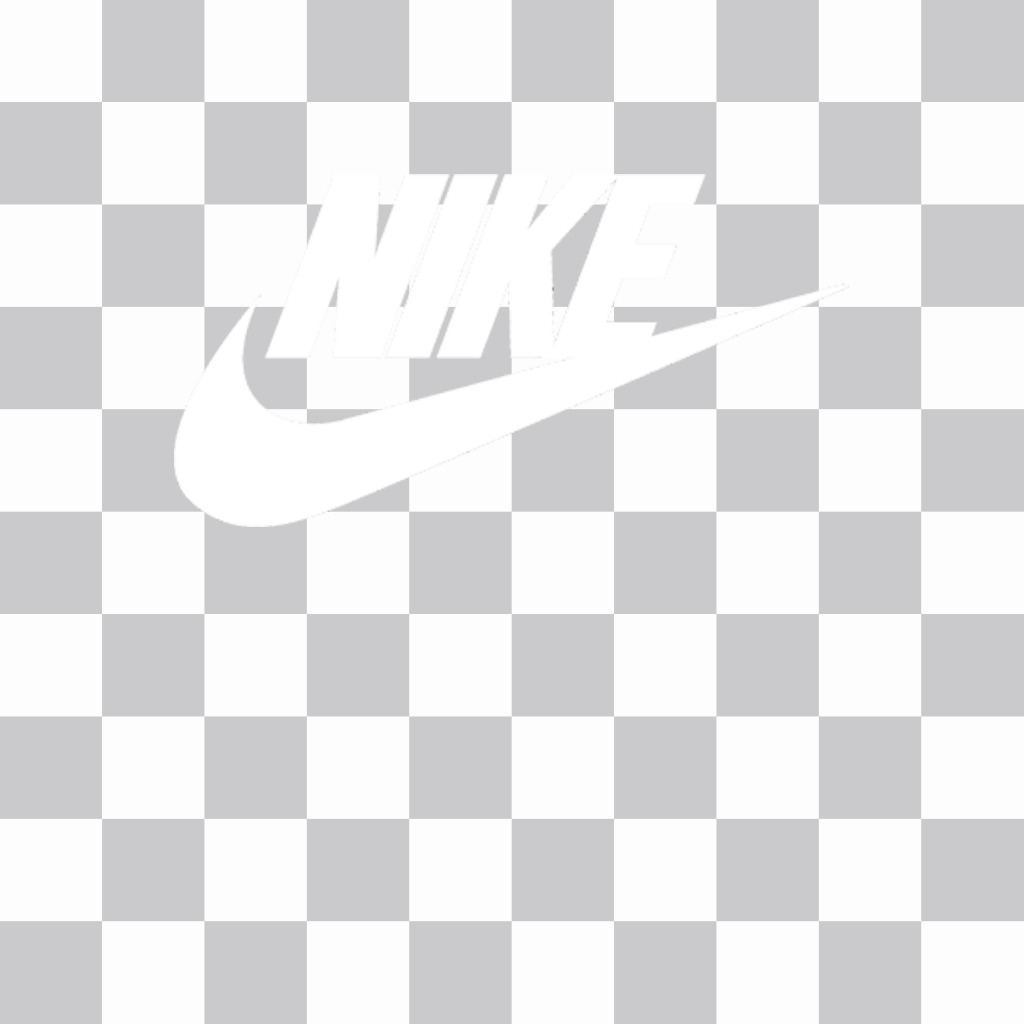 Sticker of the Nike logo to put on your pictures