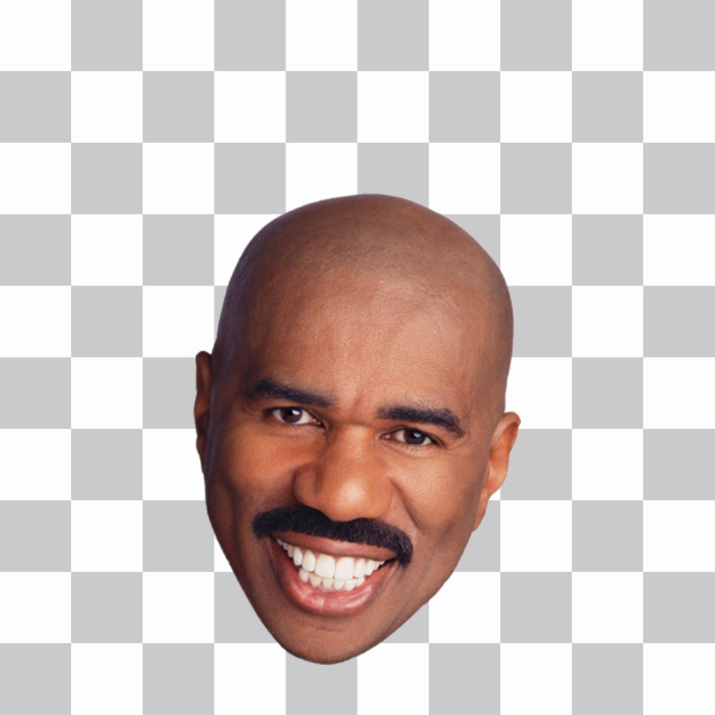 Sticker of the Steve Harvey face to put on your pictures