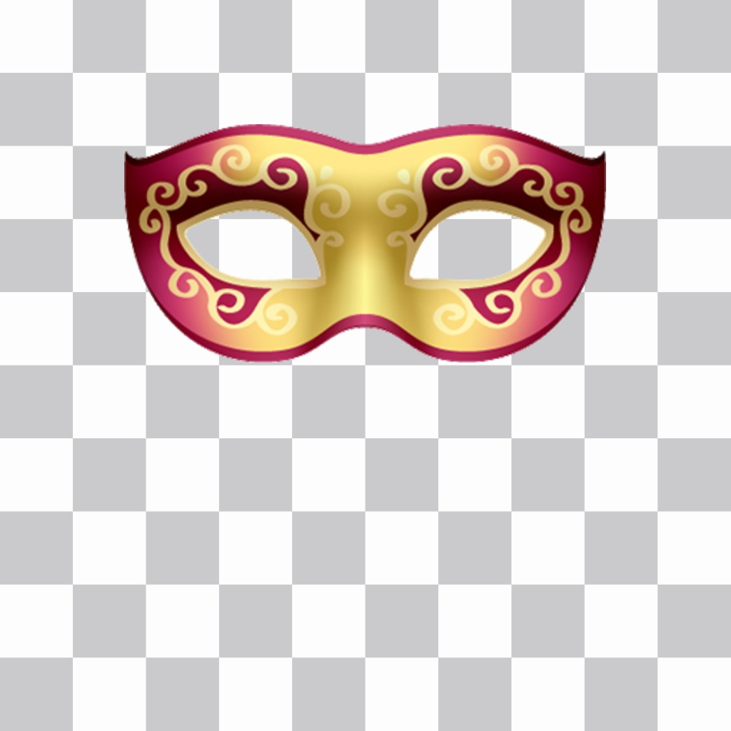Venetian masks to put your photos and free