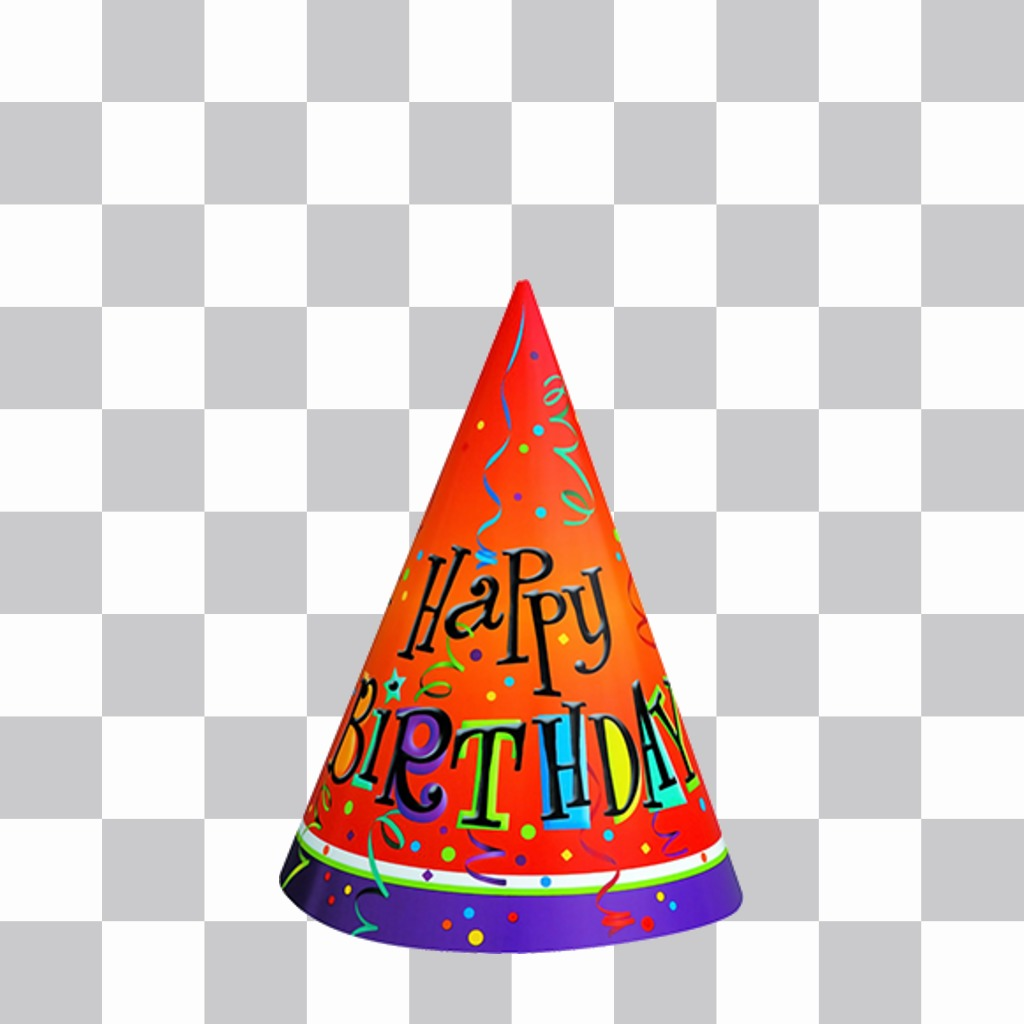 Colorful Birthday Party Hat To Decorate Ur Pictures