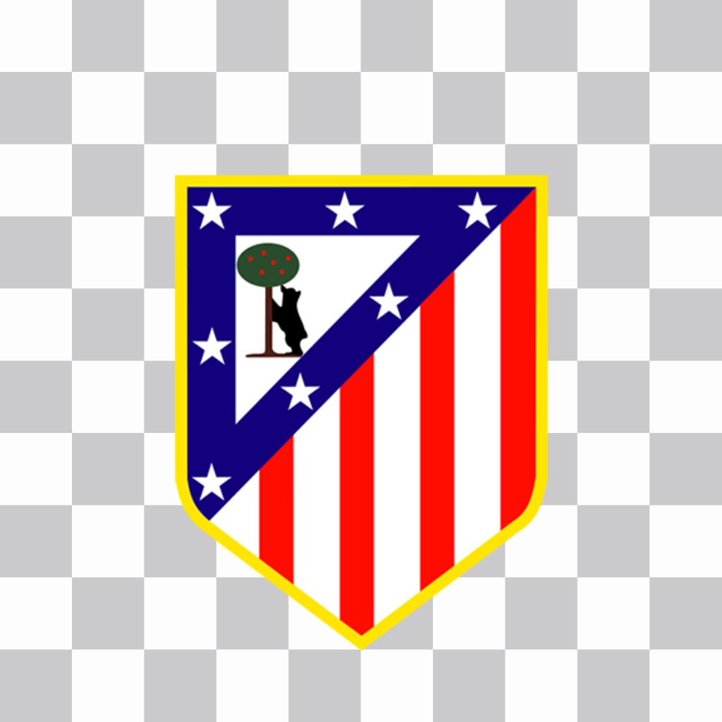 Atletico Madrid logo to put on your photos for free
