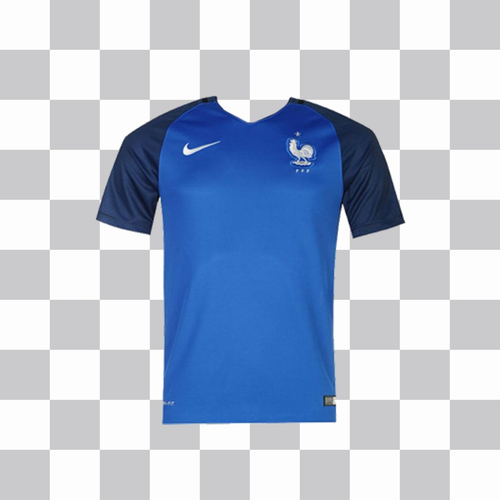 Effect to add the France team t-shirt on your photos