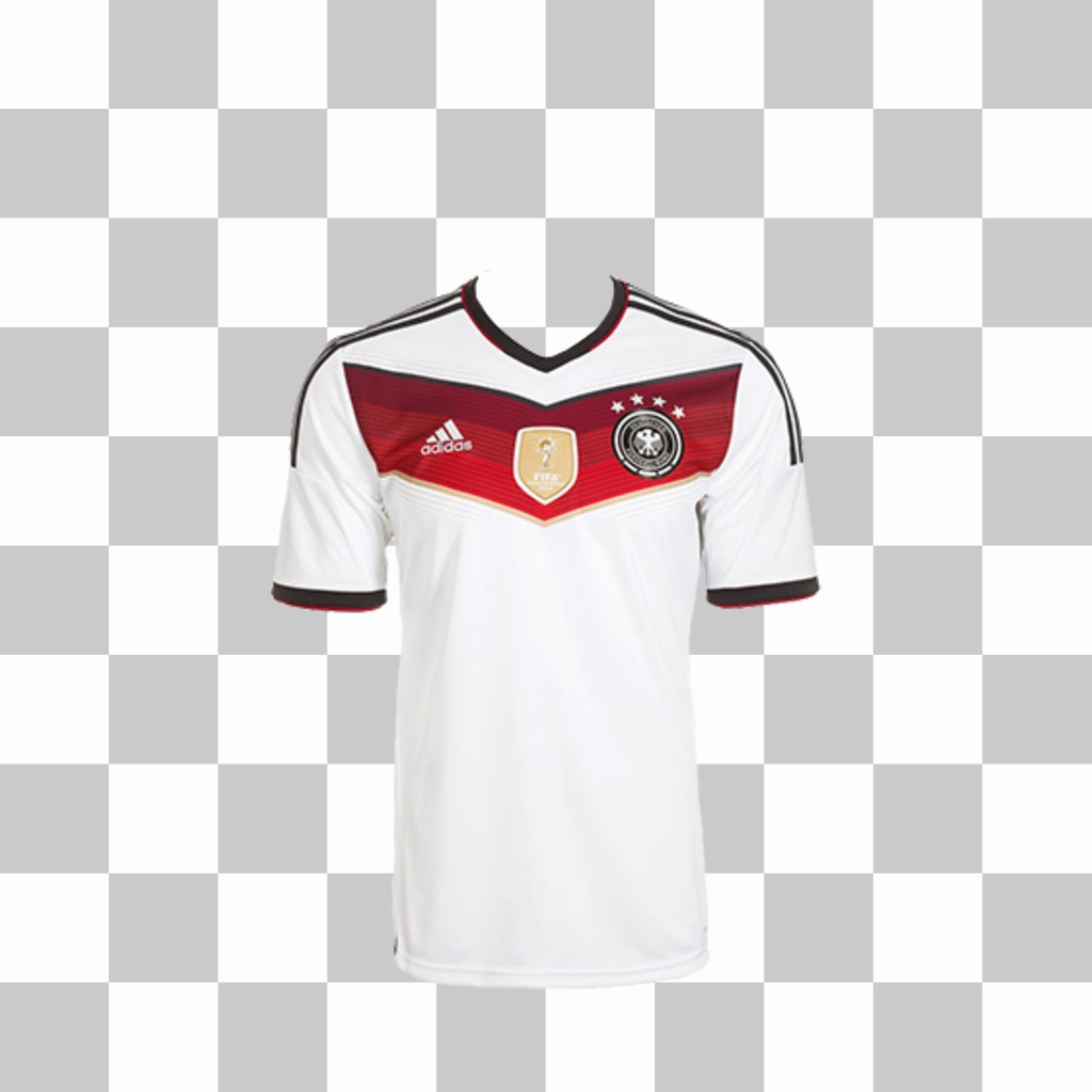 Photo effect to put the shirt for Germany on your photos