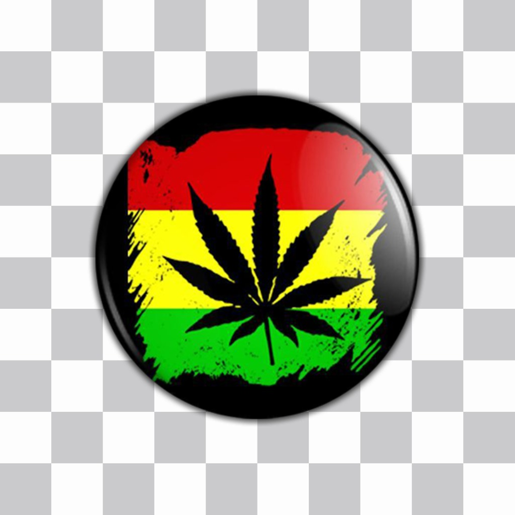 Photo effect of a sticker for your photos with the rasta colors