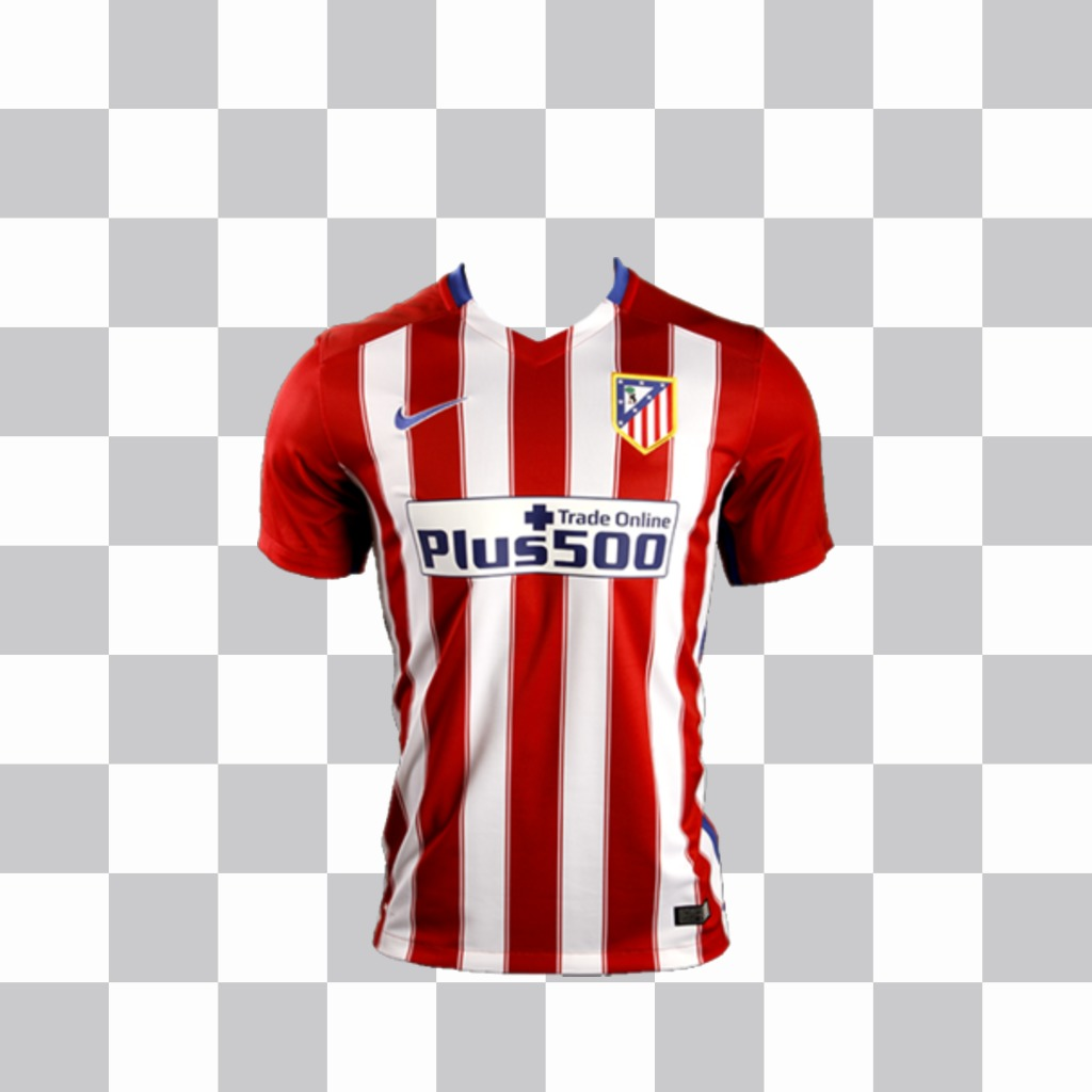 Paste the shirt of Atletico Madrid on your photos as a sticker