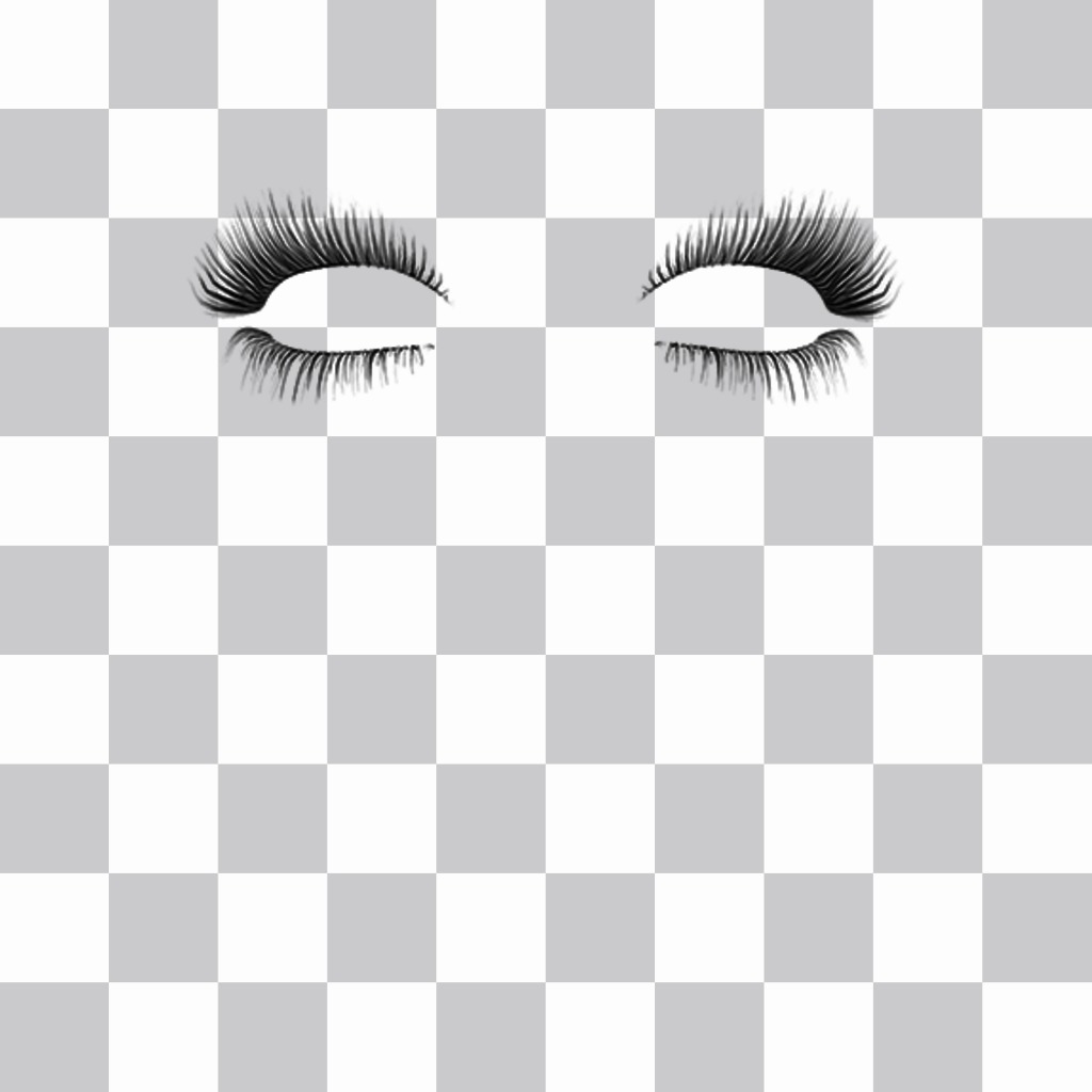 Put a eyelashes on your photos with this free effect