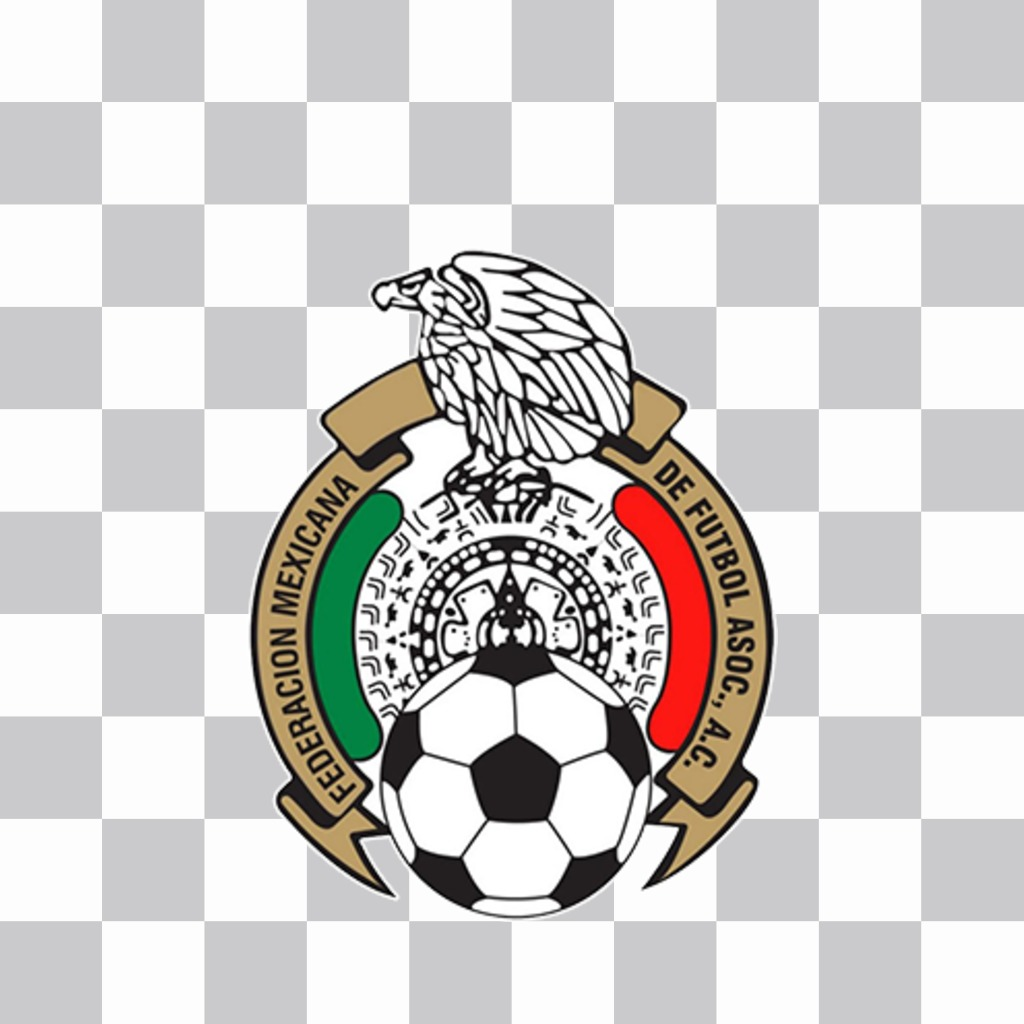 Shield of soccer team of Mexico to paste on your photos