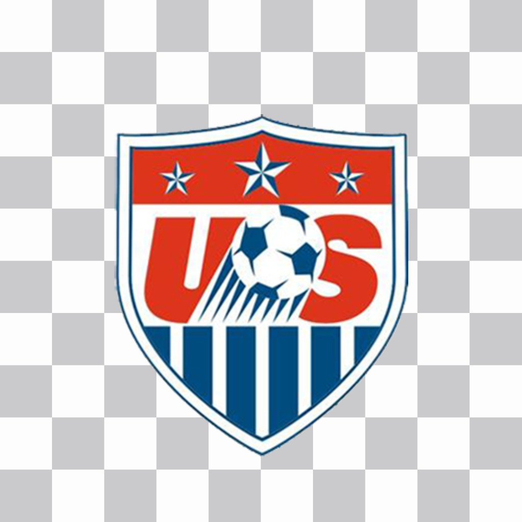 Effect to paste the shield of USA soccer team on your photos