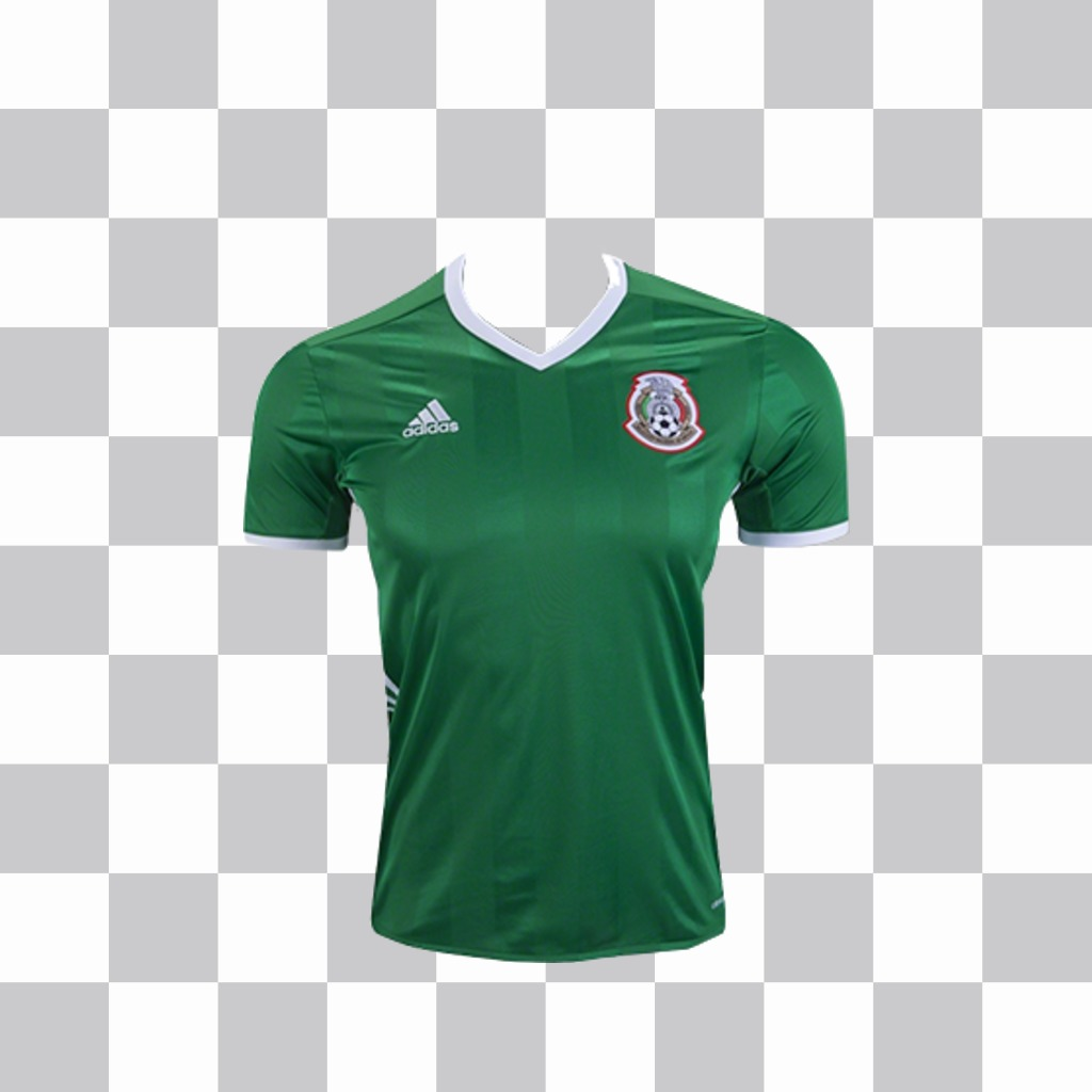 Official shirt of the football team of Mexico to paste in your photos