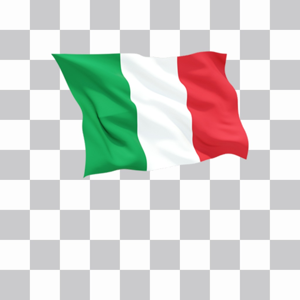 Flag of Italy waving to paste as a sticker on your photos