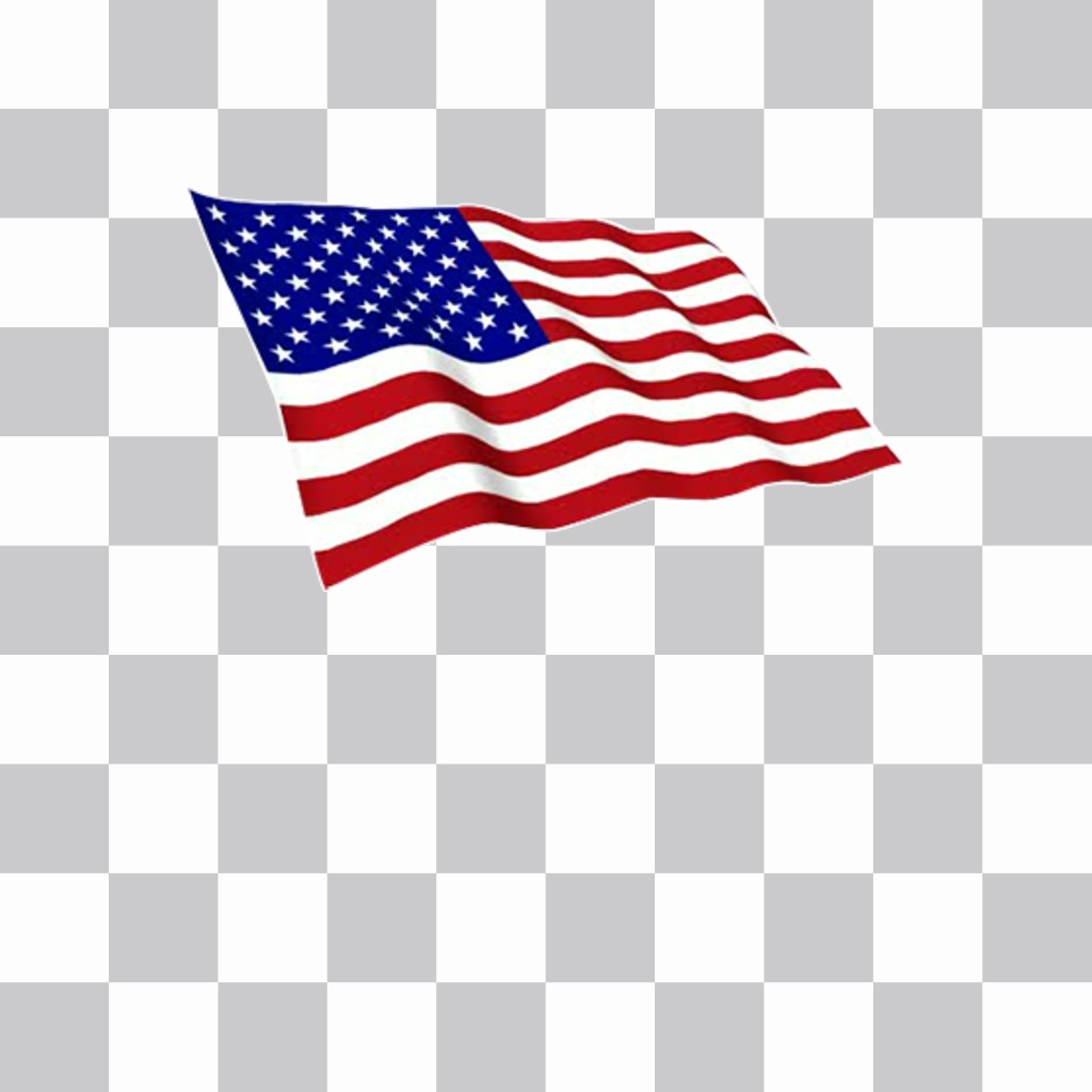 Sticker of United States flag waving to decorate your photos