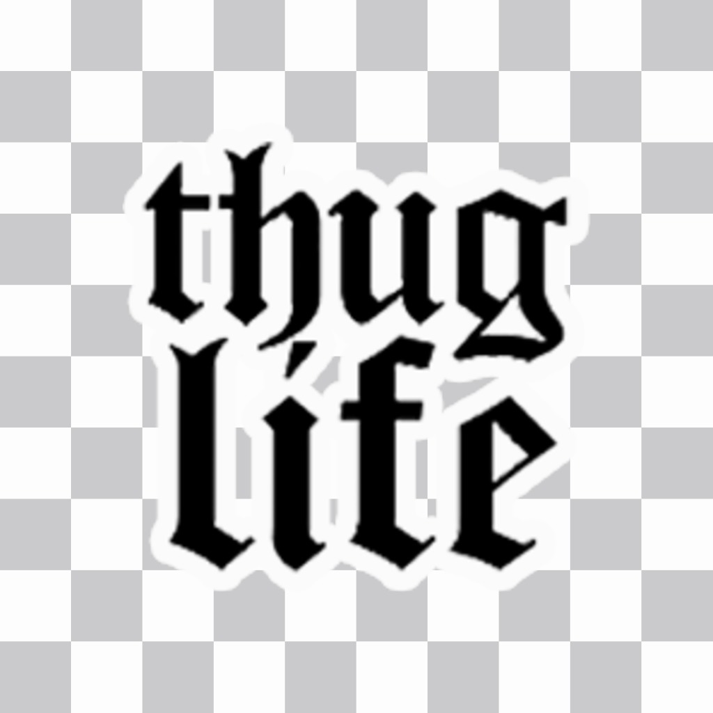 Be viral with this sticker of thug life to paste on ur photos