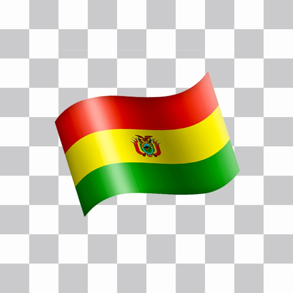 Waving flag of Bolivia you can add in your favorite pictures