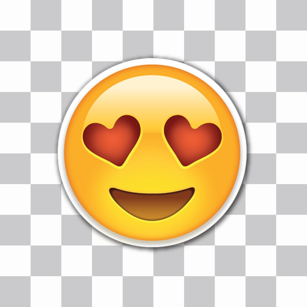 Editor to put love emojis with heart eyes in my photos