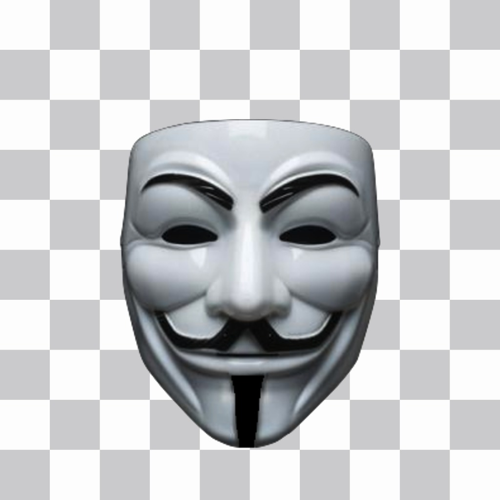 You can wear the anonymous mask with this sticker - Pictures of anonymous mask ...