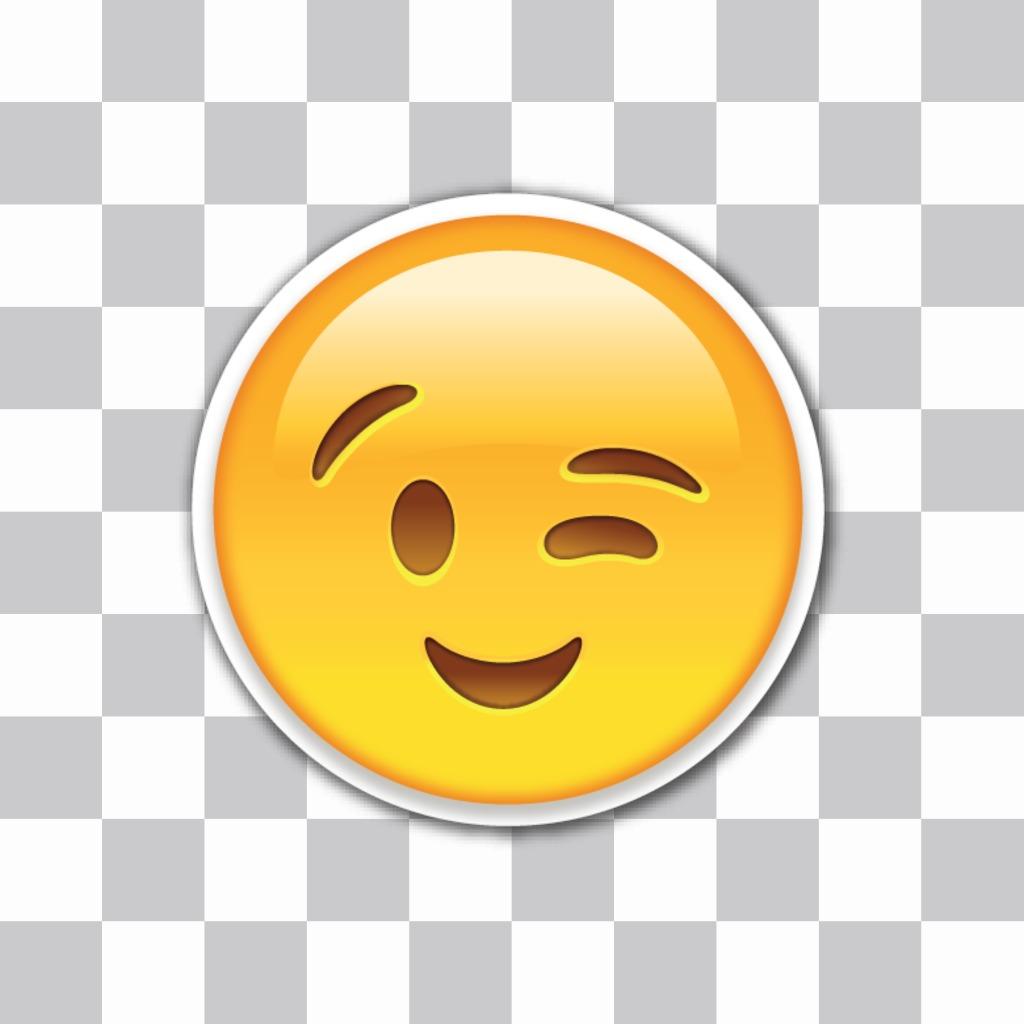 Wink Emoji to insert in your photos