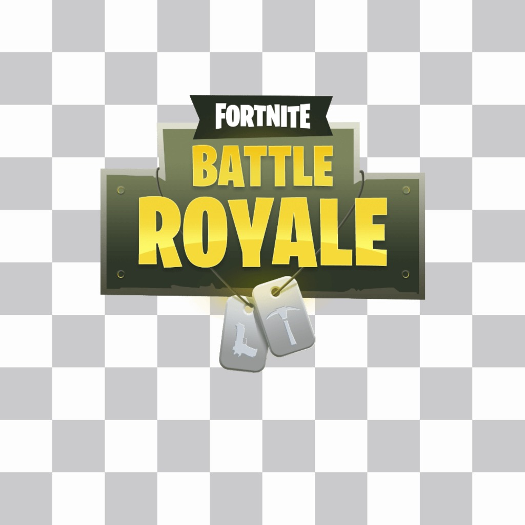 Fortnite game logo to put in your photo