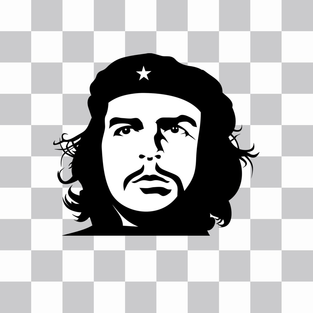 Effect of Che Guevaras face in black and white